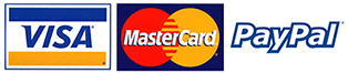 Major Credit cards accepted online and by phone